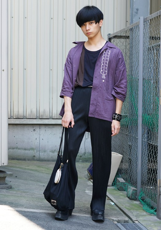 stylehunt,スタイルハント,street style,street snap,ストリートスナップ,fashion snap,ファッションスナップ,japan,men,osaka,isseimiyake,limi feu,kagari yusuke,used,dairiku,dries van noten